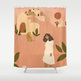 I want to go to Marrakech Shower Curtain