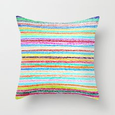 kids crayons Throw Pillow