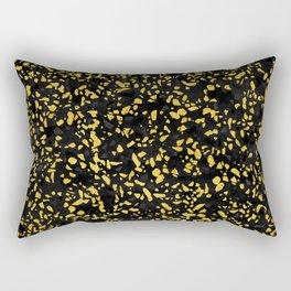 Terrazzo Memphis black grey gold Rectangular Pillow
