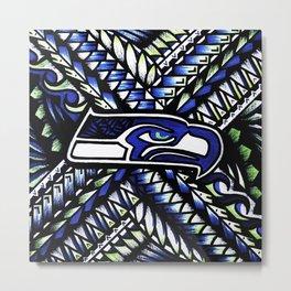 Seahawks new tribal look Metal Print