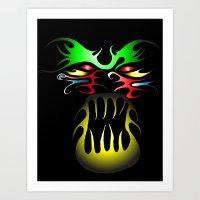 tatoo Art Prints featuring Tatoo-2 by MysticMonk