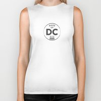 washington dc Biker Tanks featuring Made of DC (Washington DC) by Patrick Hills