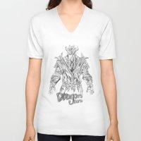 skyrim V-neck T-shirts featuring skyrim dragonborn miraak by  Steve Wade ( Swade)