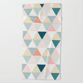 Modern Geometric Beach Towel