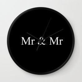 Mr & Mr Monogram Simple Wall Clock