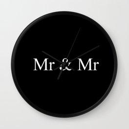 Mr & Mr Monogram Simple Wall Clock