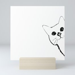 Cute Sneaky Cat Mini Art Print