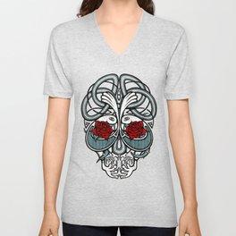 Celtic Skull Unisex V-Neck