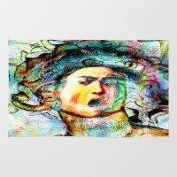 mythology Area & Throw Rugs featuring Mythology by Joe Ganech