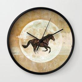 Horses should run free Wall Clock