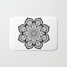 Black and White Flower Badematte