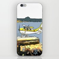 airplane iPhone & iPod Skins featuring Airplane by Cindys