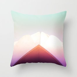 Dreamy Pastels of the Lotus Temple Throw Pillow