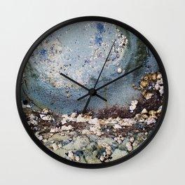 Natural Beauty . Rocks Seaweed Water Shells Wall Clock