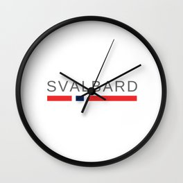 Svalbard Norway Wall Clock