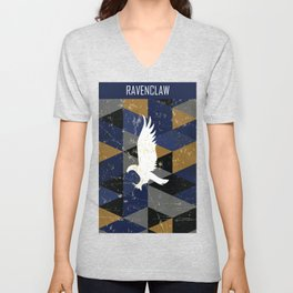 Ravenclaw House Pattern Unisex V-Neck