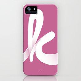 Typographic K iPhone Case