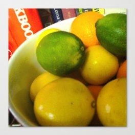 Lemon Lime Still Life Canvas Print