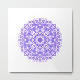 Mandala 12 / 1 eden spirit purple lilac white Metal Print