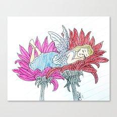 Sleepy fairy Canvas Print