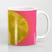 sunset Mugs featuring Abstract Sunset by Georgiana Paraschiv