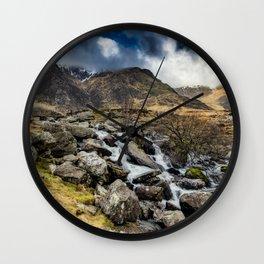 Glyderau Mountain Winter Wall Clock