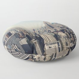New York City Aerial View Floor Pillow