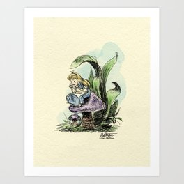 Pouty Alice - Watercolor Art Print