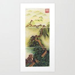 Great Wall Triptych Art Print
