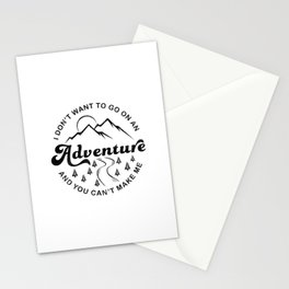 I Don't Want To Go (Black & White) Stationery Cards