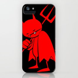 minima - sad devil iPhone Case