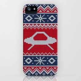 Ugly Saucer Christmas Sweater iPhone Case