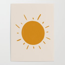 painted sun Poster