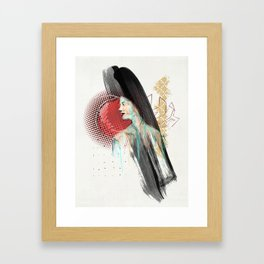 She Misses Her Hamburger Hobo Framed Art Print