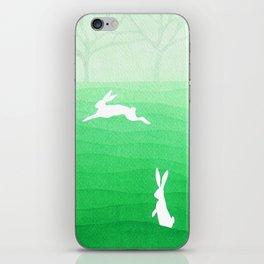Rabbits meadow iPhone Skin