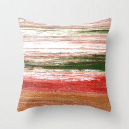 Copper abstract watercolor Throw Pillow
