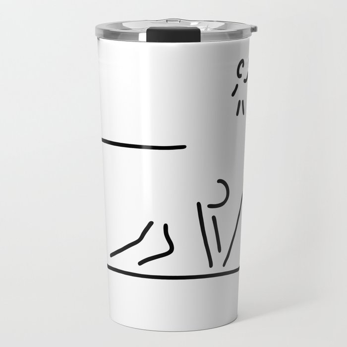 100 metre sprint athletics start Travel Mug