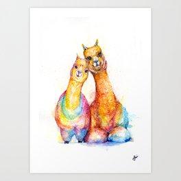Packa'Alpaca Art Print