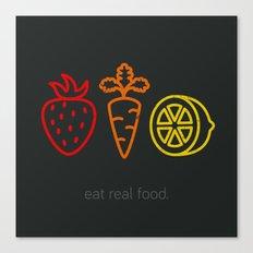 Eat Real Food. (dark) Canvas Print