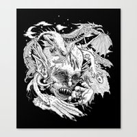 demon Canvas Prints featuring Demon by Gregery Miller