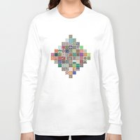 quilt Long Sleeve T-shirts featuring Pattern Quilt by Cina Catteau