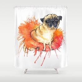 Sad Tutu Pug Shower Curtain