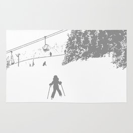 Little Skier - Grey Rug