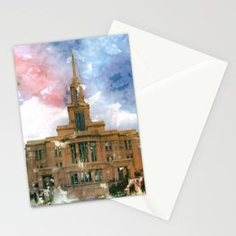 Payson LDS Temple Watercolor Photo Stationery Cards