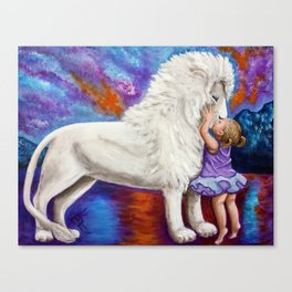Kissing The KING Canvas Print