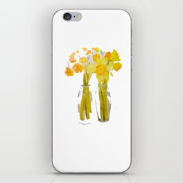 Daffodils watercolor iPhone Skin