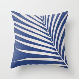 Indigo Palm - Vintage Botanical Throw Pillow