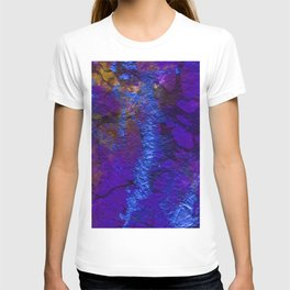 Purple Blue abstract marble T-shirt