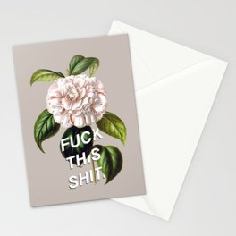 Fuck this shit. Vintage Flower Drawing Stationery Cards