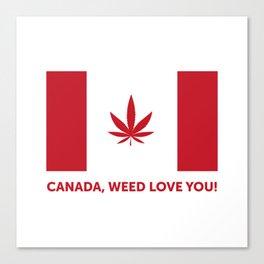 Canada legalization Canvas Print